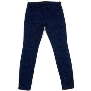 7 for All Mankind Skinny Brocade Jacquard Jeans